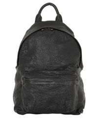 Officine Creative | Black Tumbled Leather Backpack for Men | Lyst