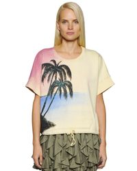 Faith Connexion - Yellow Palm Graffiti Heavy Cotton Sweatshirt - Lyst