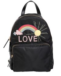 RED Valentino | Black Rainbow Love Patch Backpack | Lyst