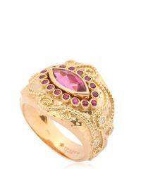 Aurelie Bidermann | Metallic Cashmere Collection Ring | Lyst