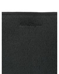Ferragamo - Black Revival Embossed Leather Pouch for Men - Lyst
