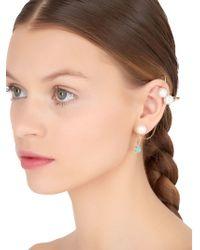 Maria Francesca Pepe - Green Poison Stud & Cuff Mono Earring - Lyst