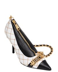Moschino | Metallic Logo Lettering Pump Shaped Leather Bag | Lyst