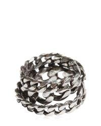 Emanuele Bicocchi - Metallic Silver Chain Ring for Men - Lyst
