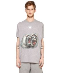 Givenchy - Gray Columbian Monkeys Cotton Jersey T-shirt for Men - Lyst