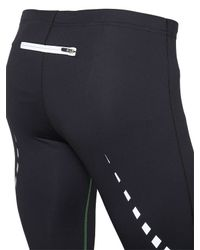 Bikkembergs - Black Quick Drying Stretch Microfiber Leggings for Men - Lyst