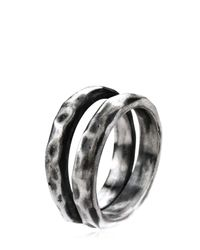 Henson | Metallic Carved Double Ring for Men | Lyst