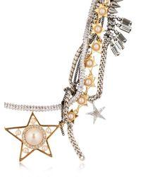 Venna - Metallic Stars Multi Chain Necklace - Lyst