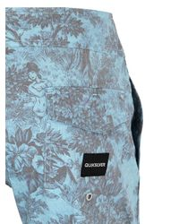 """Quiksilver - Gray Sunset Tunnels Scallop 17"""" Boardshorts for Men - Lyst"""