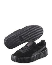 Puma Select - Black Rihanna Suede Creeper Sneakers for Men - Lyst