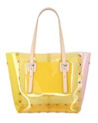 J&C JACKYCELINE - Yellow Medi Crystal Transparent Pvc Tote Bag - Lyst