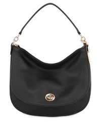 COACH | Black Turnlock Hobo Leather Shoulder Bag | Lyst