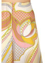 Emilio Pucci - Yellow Printed Silk Twill Palazzo Pants - Lyst