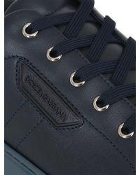 Dolce & Gabbana | Blue London Leather Tennis Sneakers for Men | Lyst