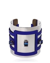 Hirschell - Blue Crystal Cuff Bracelet - Lyst