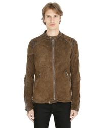 Giorgio Brato | Brown Vintage Washed Reversed Leather Jacket for Men | Lyst