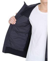 Moncler - Blue Cotton & Nylon Down Jacket for Men - Lyst
