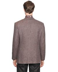 Larusmiani - Multicolor Micro Check Wool Jacket for Men - Lyst