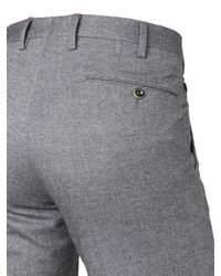 PT01 - Gray 18cm Super Slim Cotton Jacquard Pants for Men - Lyst