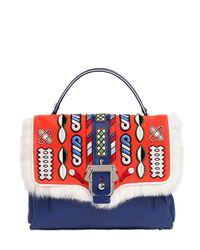Paula Cademartori - Multicolor Petite Faye Leather Bag W/ Embroidery - Lyst