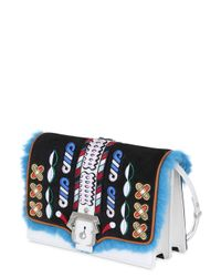 Paula Cademartori - Multicolor Tatiana Leather Bag W/ Embroidery & Fur - Lyst