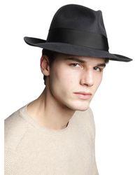 Borsalino - Black Alessandria Felt Large Brim Hat for Men - Lyst