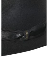 Borsalino - Black Trilby Lapin Fur Felt Hat for Men - Lyst
