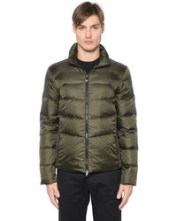 EA7 | Green Quilted Matte Nylon Down Jacket for Men | Lyst