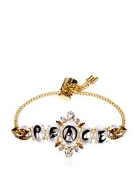 Bijoux De Famille   Metallic Peace Pearl Mini Chain Bracelet   Lyst