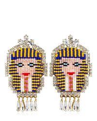 Shourouk | Metallic Pharaoh Earrings | Lyst