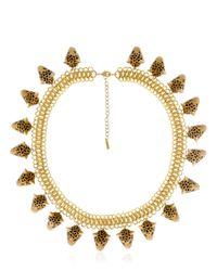 Nach | Metallic Leopard Necklace | Lyst