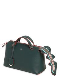Fendi | Green Small By The Way Bag W/ Embellished Zip | Lyst