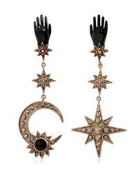 Roberto Cavalli - Multicolor Star & Moon Brass Earrings - Lyst