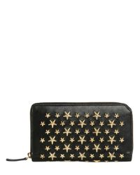 Jimmy Choo | Multicolor Stars Studs Leather Zip Around Wallet | Lyst