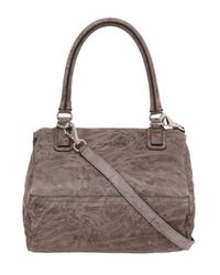 Givenchy - Brown Small Pandora Washed Leather Shoulder Bag - Lyst