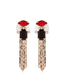 Mawi | Pink Deco Lux Fringed Earrings | Lyst