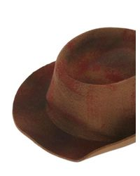 Barbisio - Red Rubberized Wool Felt Pressed Hat for Men - Lyst