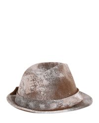 Barbisio - Multicolor Painted Wool Felt Trilby Hat for Men - Lyst