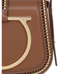Ferragamo - Brown Large Sabine Stitched Leather Bag - Lyst