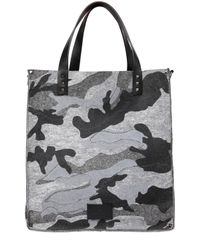 Valentino | Gray Camouflage Printed Cotton Felt Bag for Men | Lyst