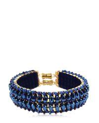 Only Child - Metallic Blue Flash Crystal Collar - Lyst