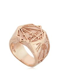 Meadowlark | Metallic Panic Chevalier Ring | Lyst