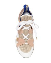 Vionnet - Natural 20mm Elastic & Leather High Top Sneakers - Lyst