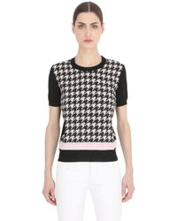 Ferragamo | Black Wool & Silk Knit Top | Lyst