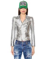 DSquared² | Metallic Nappa Leather Jacket | Lyst