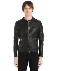 Giorgio Brato | Black Washed Nappa Leather Jacket for Men | Lyst