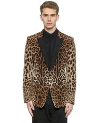 Dolce & Gabbana | Multicolor Leopard Printed Satin Evening Jacket for Men | Lyst