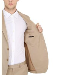 Tagliatore Natural Solaro Cotton Herringbone Suit for men