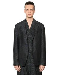 Etro | Blue Deconstructed Cotton & Wool Twill Jacket for Men | Lyst