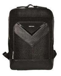 DIESEL | Multicolor Treated Denim & Faux Leather Backpack for Men | Lyst
